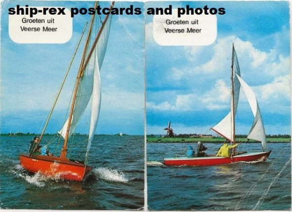 Lake Veere (Zeeland) yachting, 2 postcards